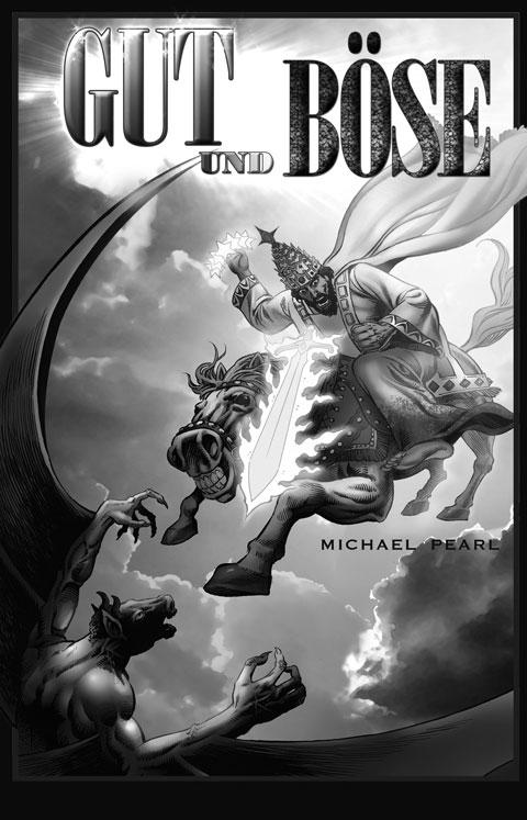 """12.Comic-Buch-Cover """"Gut und Böse"""". Deutsche Comic-Bibel. Christliche Comic-Bibel in deutscher Sprache. Lesen Sie Gottes Geschichte von Genesis bis zur Offenbarung."""